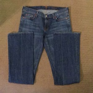 7 For All Mankind bootcut size 29 medium wash